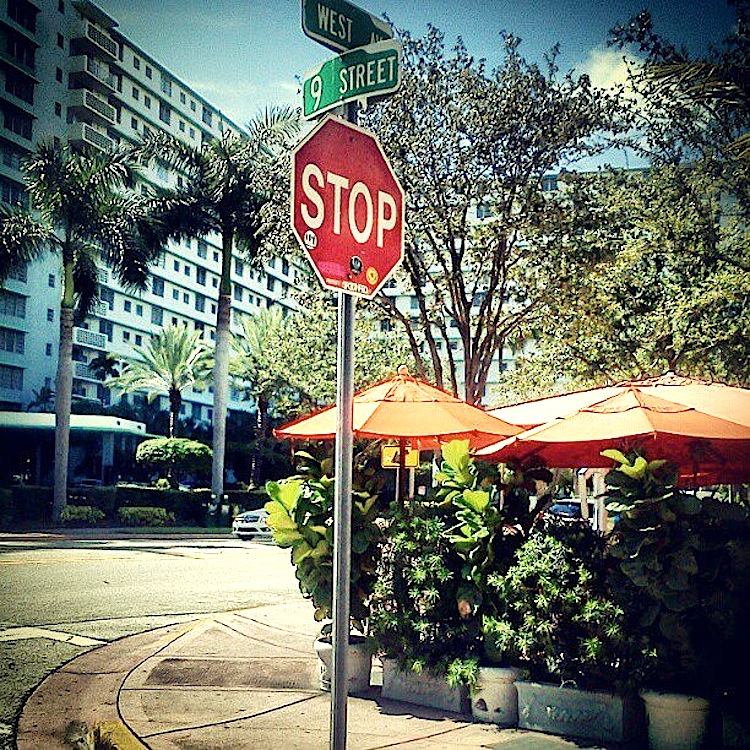 Stop Sign at 9th Street & West Avenue